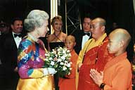 Shaolin Monks Royal Variety Performance Queen Abbot